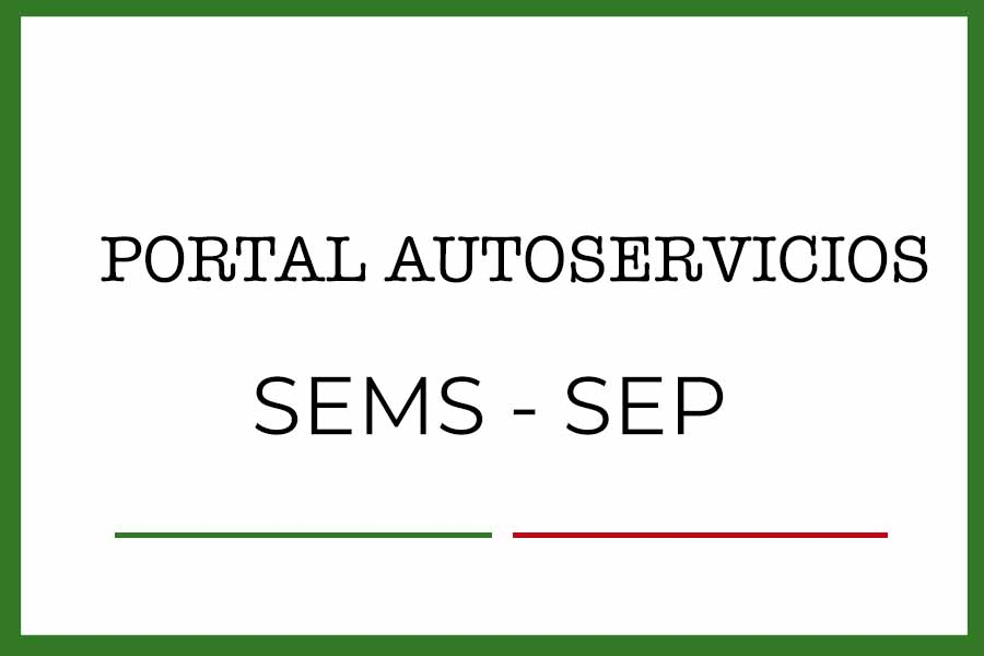 Portal autoservicios SEMS SEP